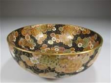 Antique Japanese Satsuma porcelain bowl