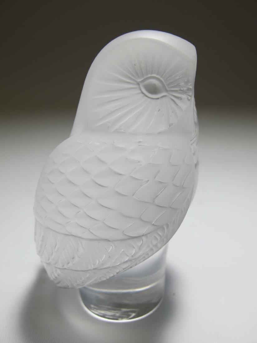 Lalique, France owl glass statue - 2