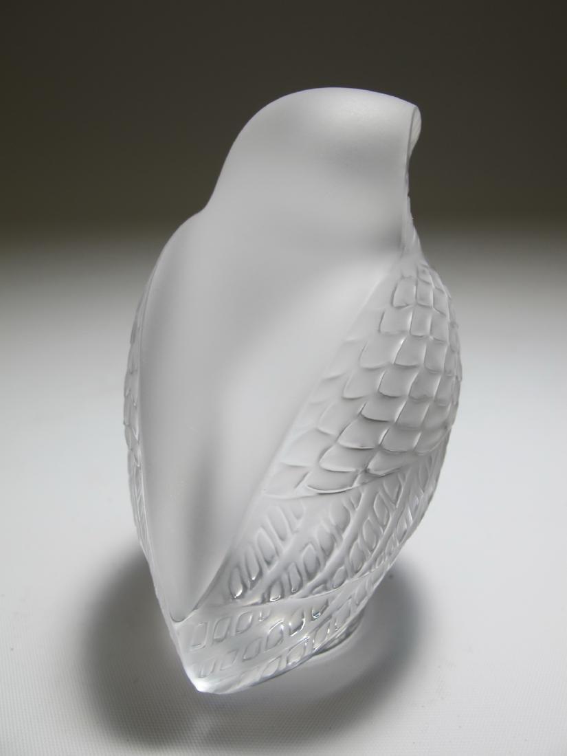Lalique, France owl glass statue - 3