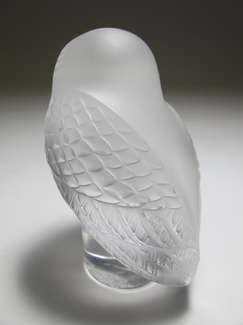 Lalique, France owl glass statue - 4