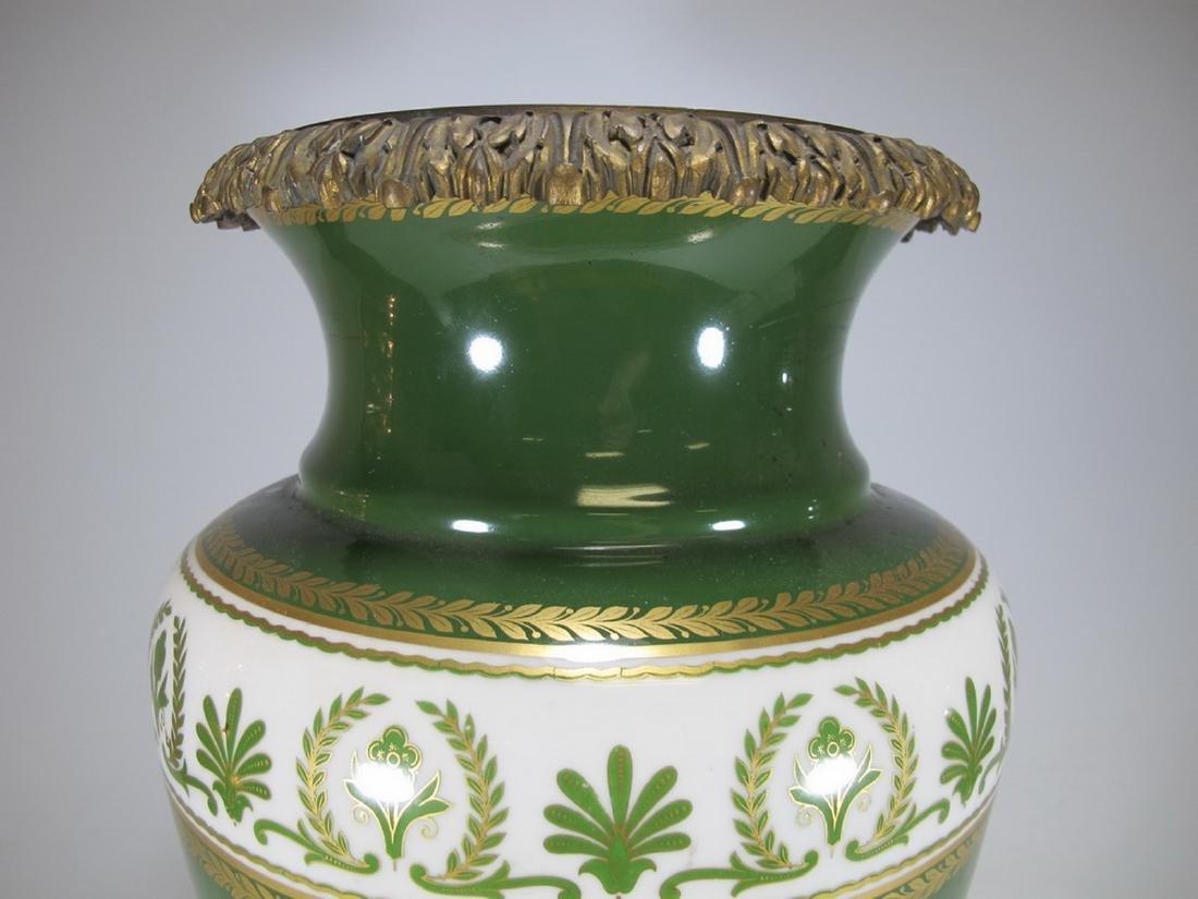 Antique French Limoges bronze & porcelain vase - 3