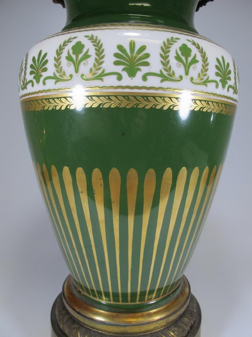 Antique French Limoges bronze & porcelain vase - 4