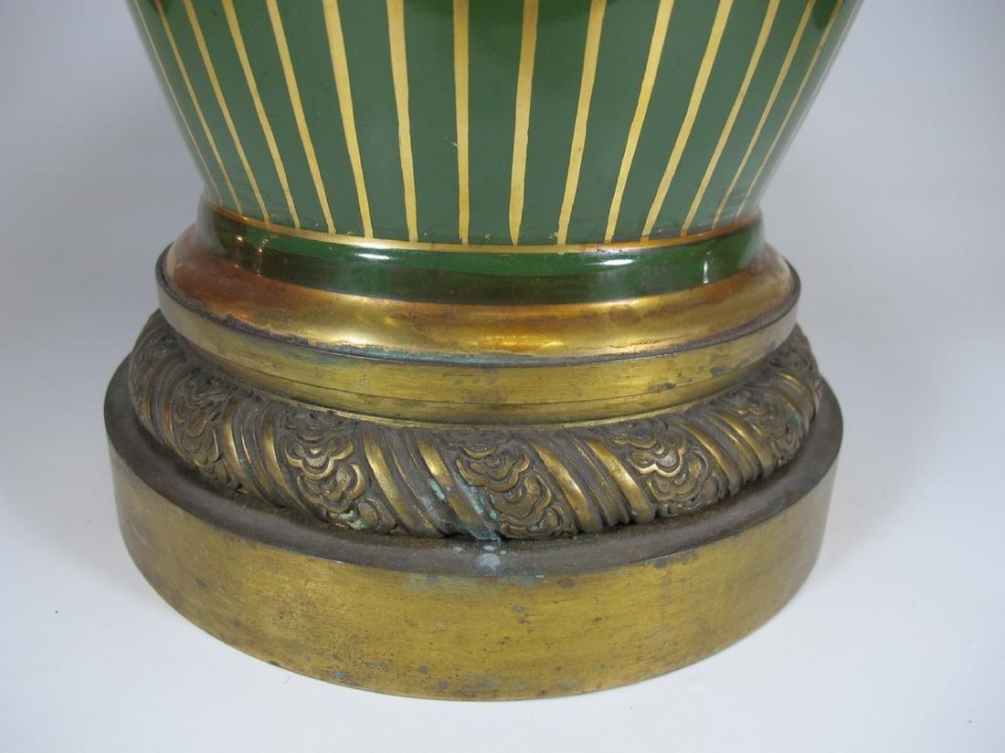 Antique French Limoges bronze & porcelain vase - 5
