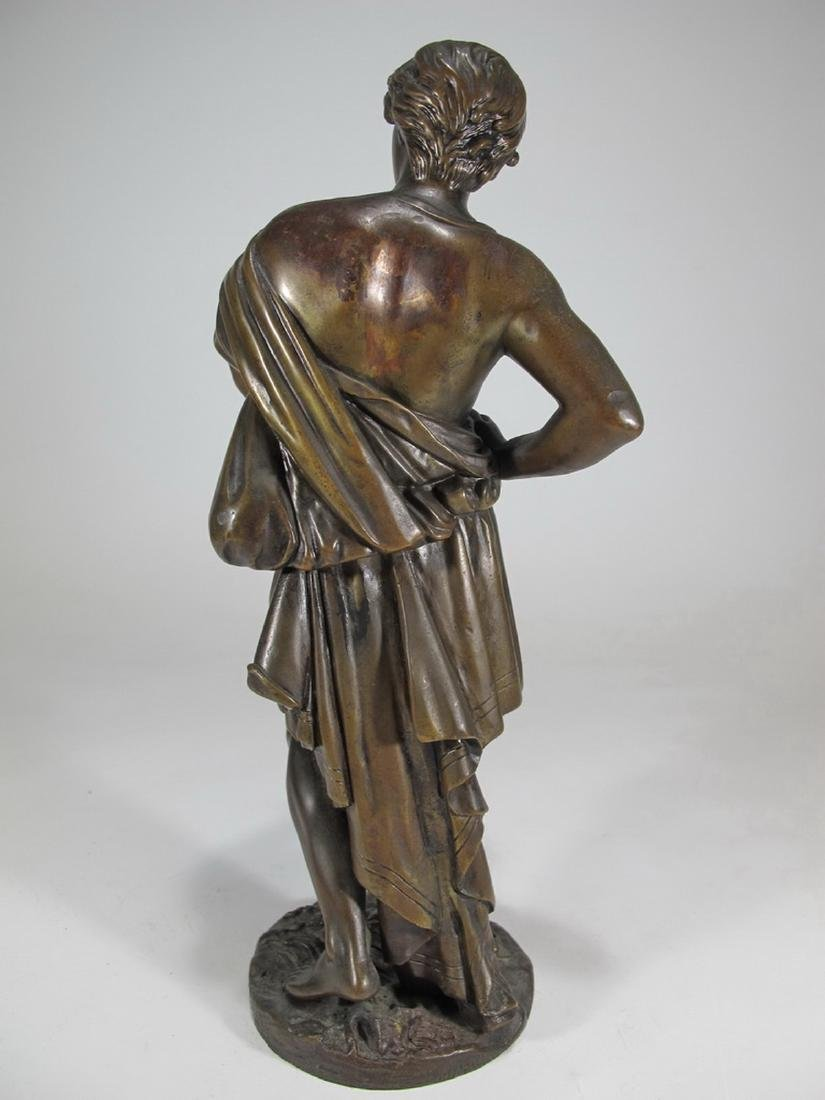 Antique French man bronze sculpture, unsigned - 5