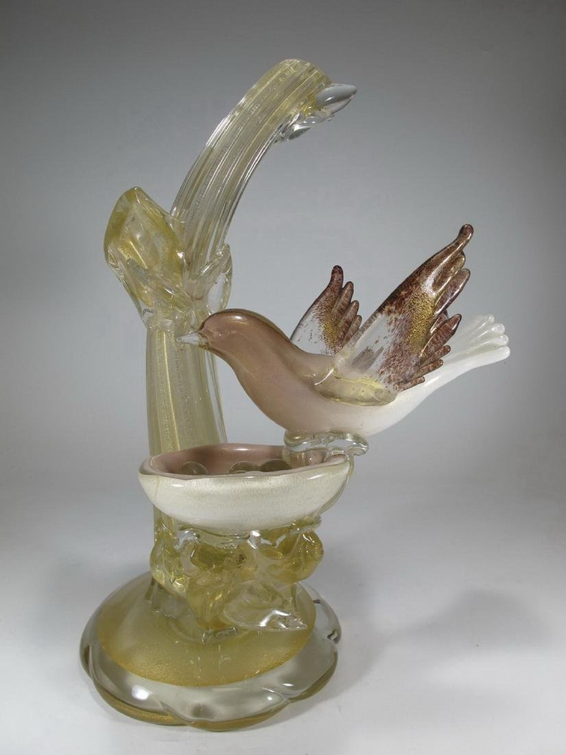 Vintage Italian Murano bird sculpture