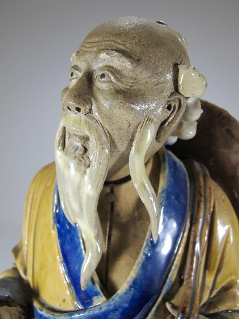 Vintage Chinese ceramic fisherman sculpture - 8
