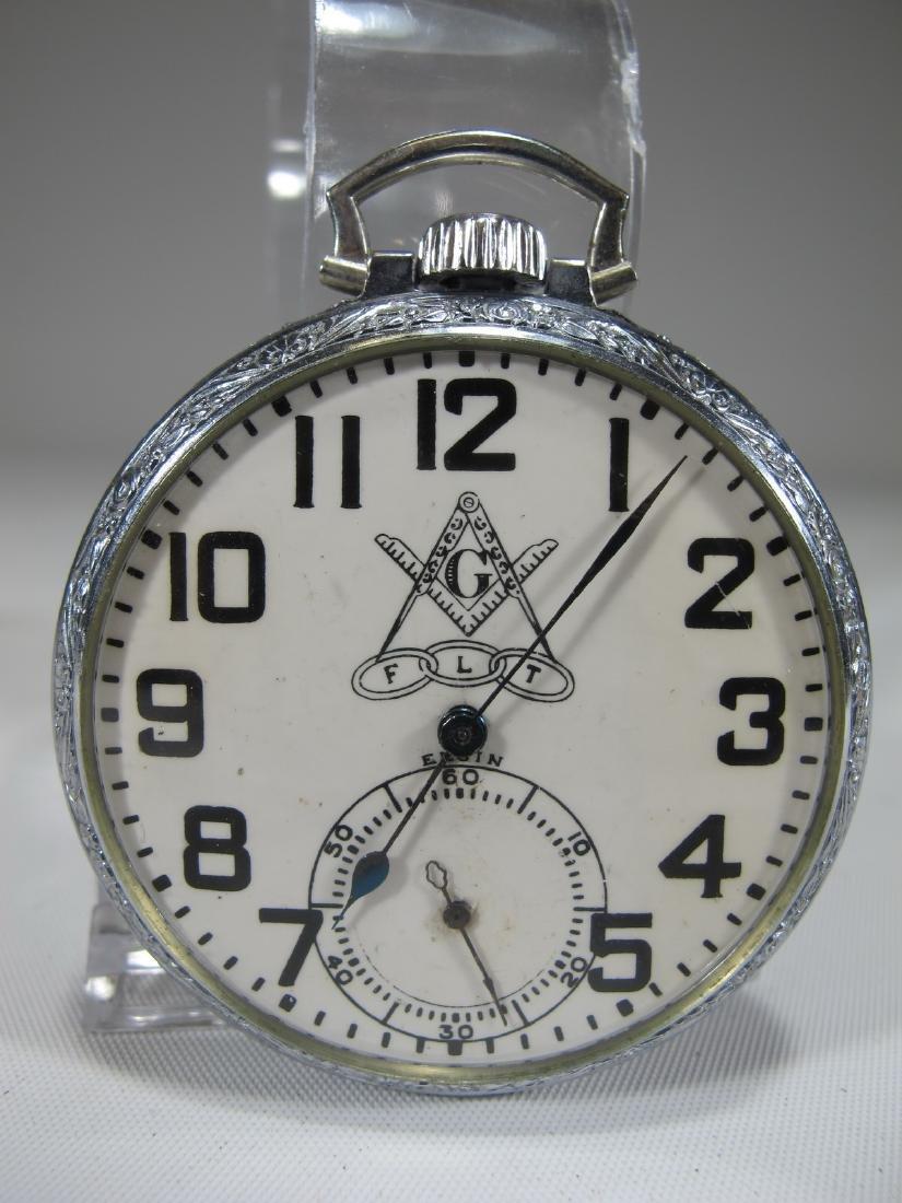 Elgin Natl. Watch Co. U.S.A. Masonic pocket watch