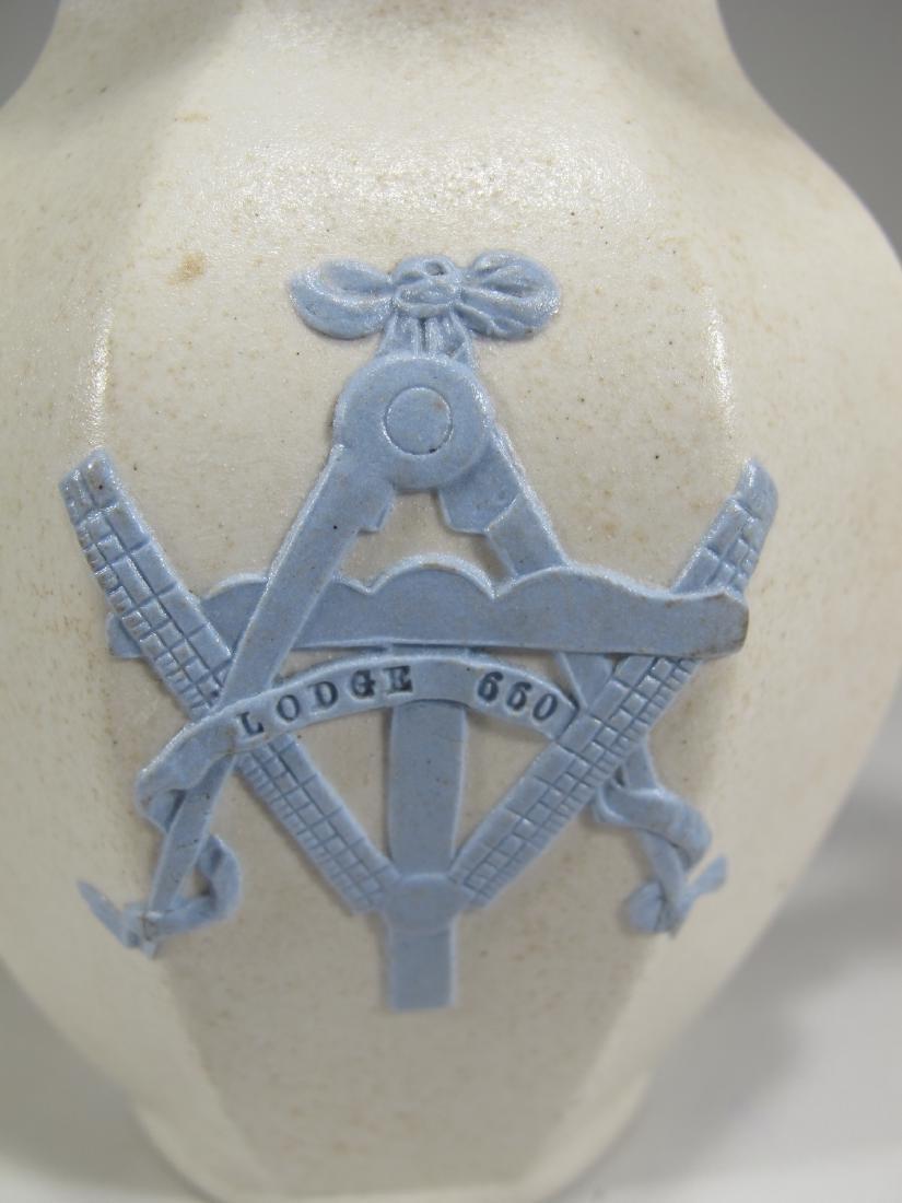 Antique English Masonic porcelain jug - 2