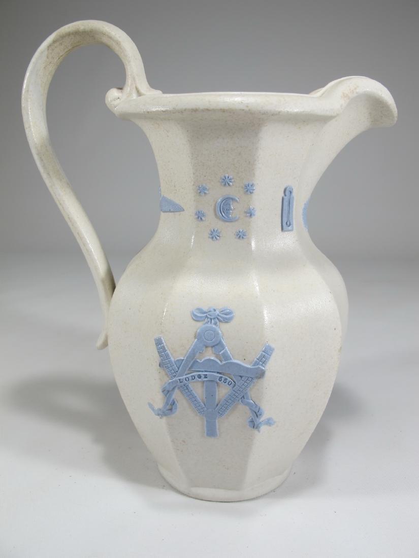 Antique English Masonic porcelain jug - 5
