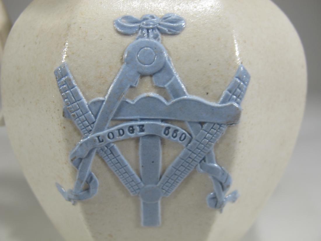 Antique English Masonic porcelain jug - 6