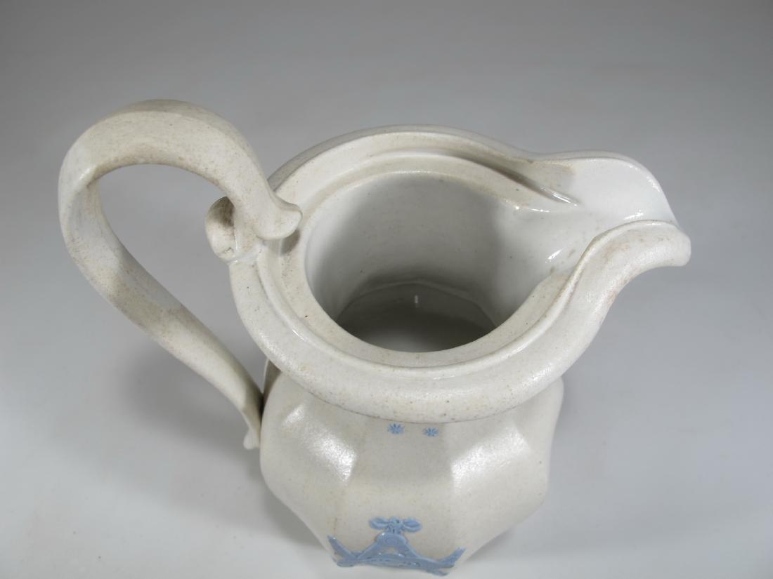 Antique English Masonic porcelain jug - 7