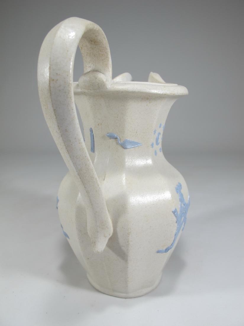 Antique English Masonic porcelain jug - 8