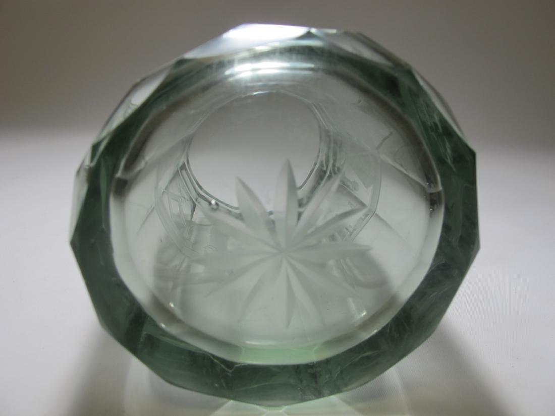 Vintage Masonic Bohemian 12 sides large glass - 6