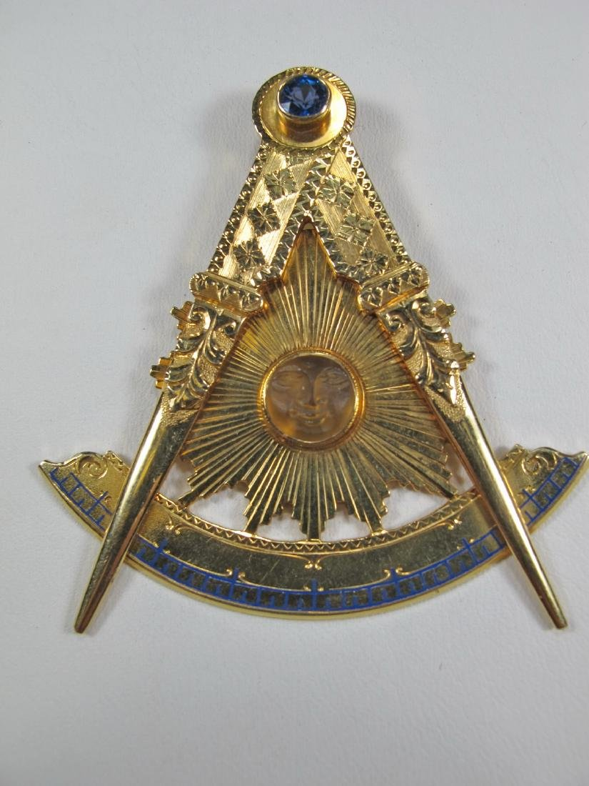 Masonic 14K gold Past Master jewel