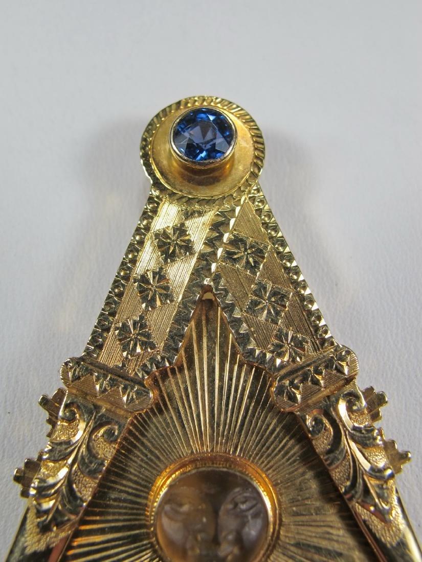 Masonic 14K gold Past Master jewel - 2