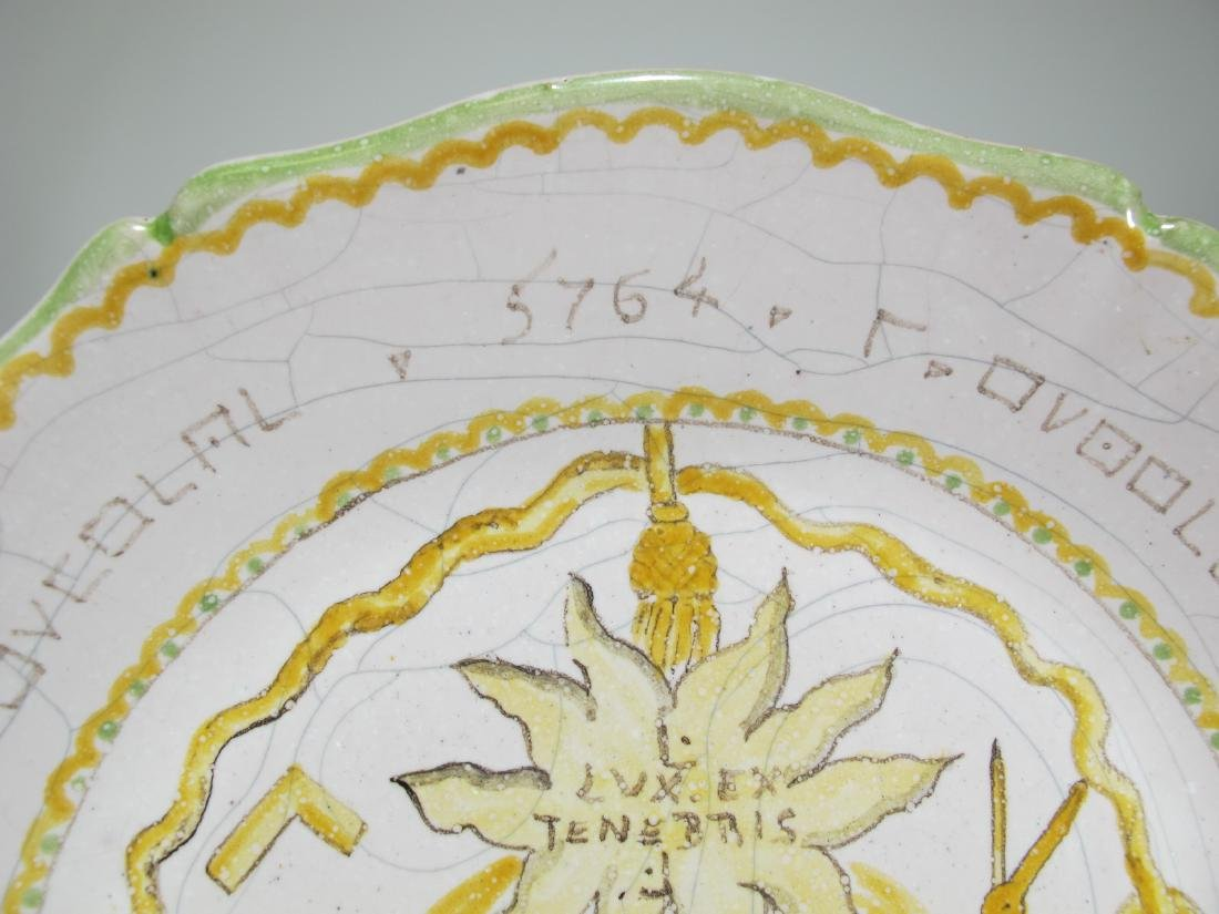 Antique Masonic French hand painted plate - 2