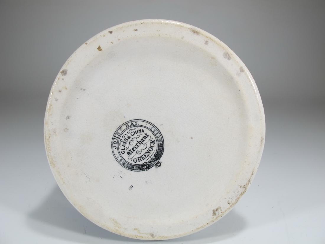 19th C Masonic cream ware porcelain jug - 7