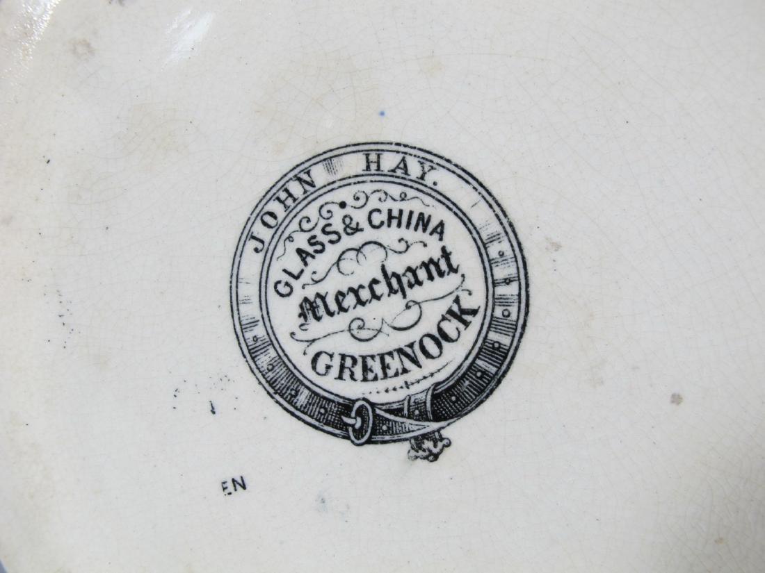 19th C Masonic cream ware porcelain jug - 8