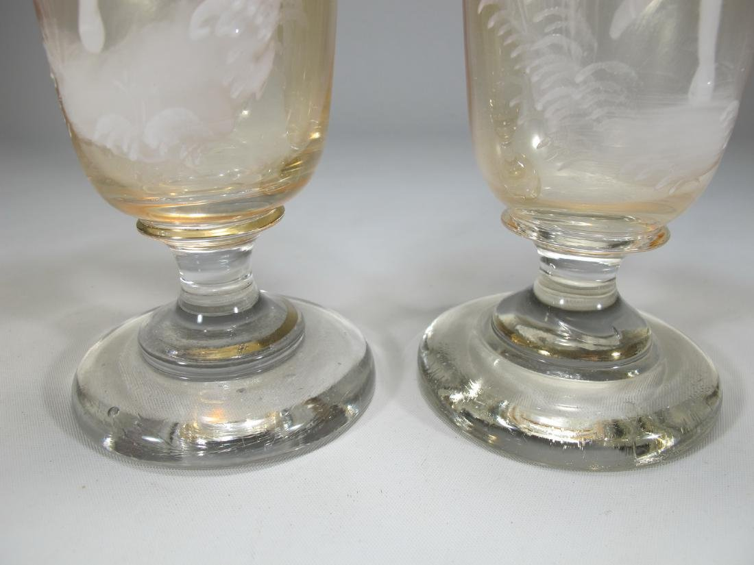 Antique pair of English Mary Gregory glasses - 6