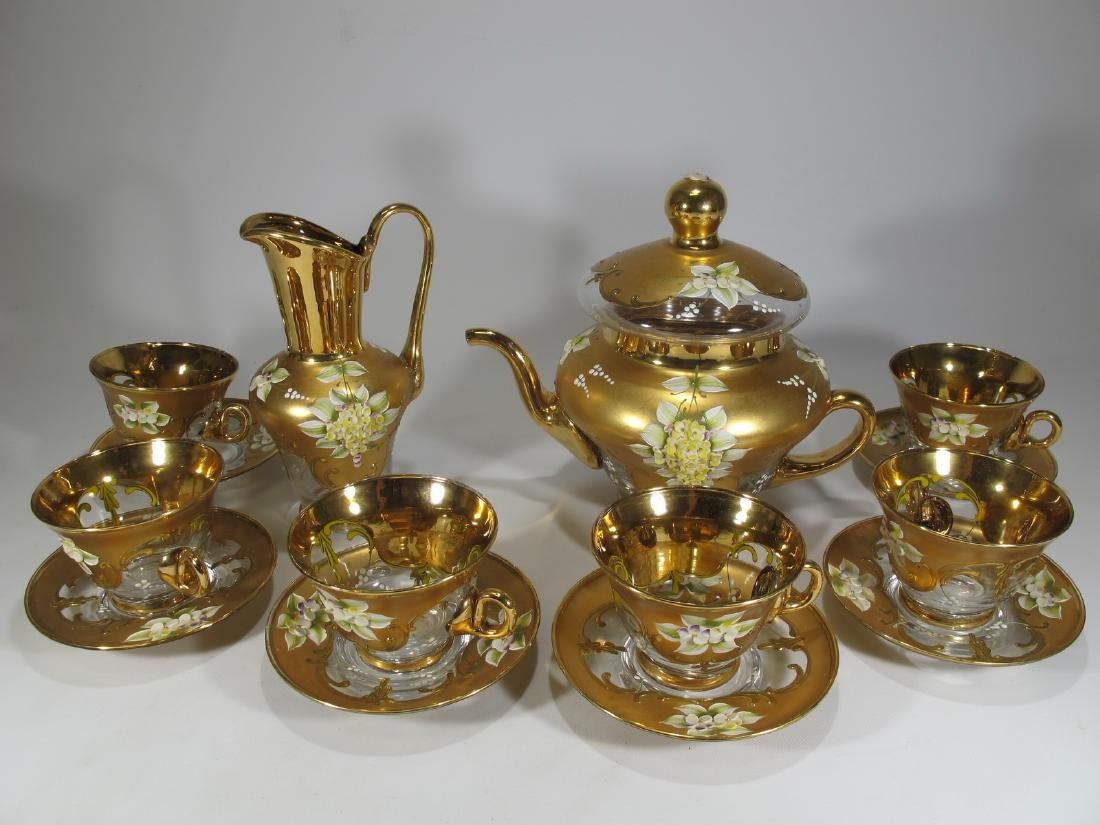 Vintage Venetian glass set