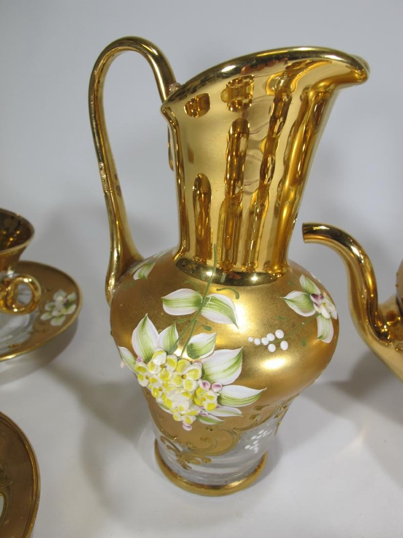 Vintage Venetian glass set - 8