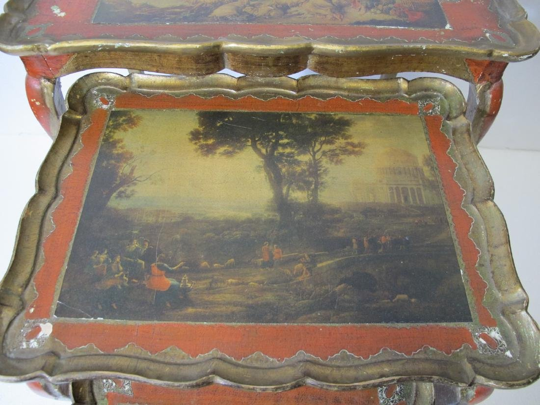 Vintage set of French 3 in 1 side tables - 4