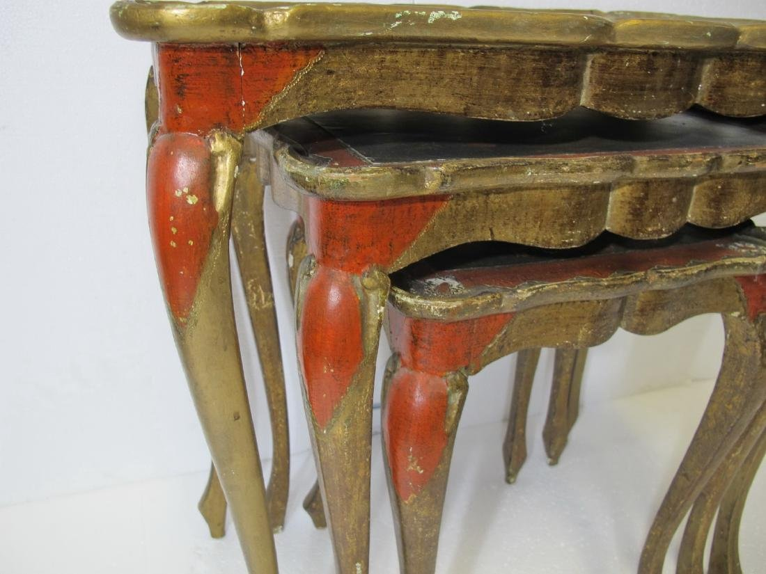 Vintage set of French 3 in 1 side tables - 8