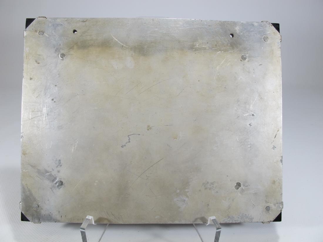 Antique French bronze & onyx plaque - 6