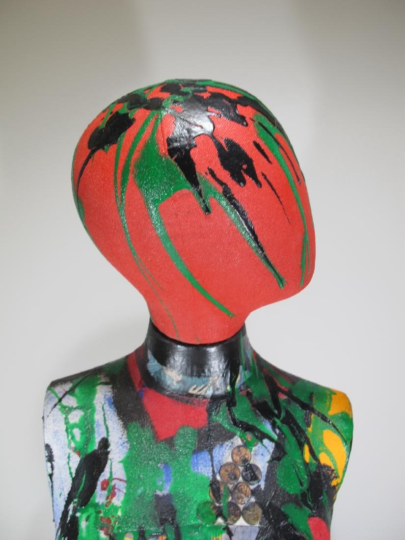 Peter Robert KEIL (1942) painted mannequin - 2