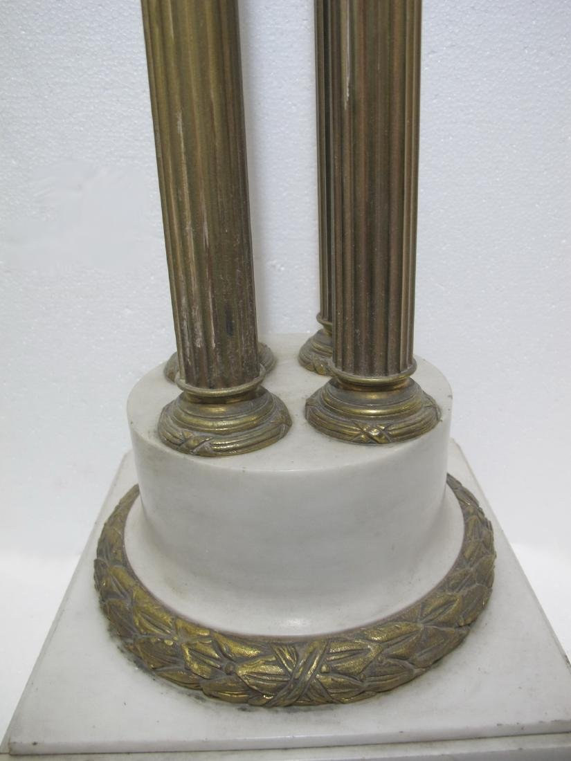 Antique French marble & bronze pedestal - 5
