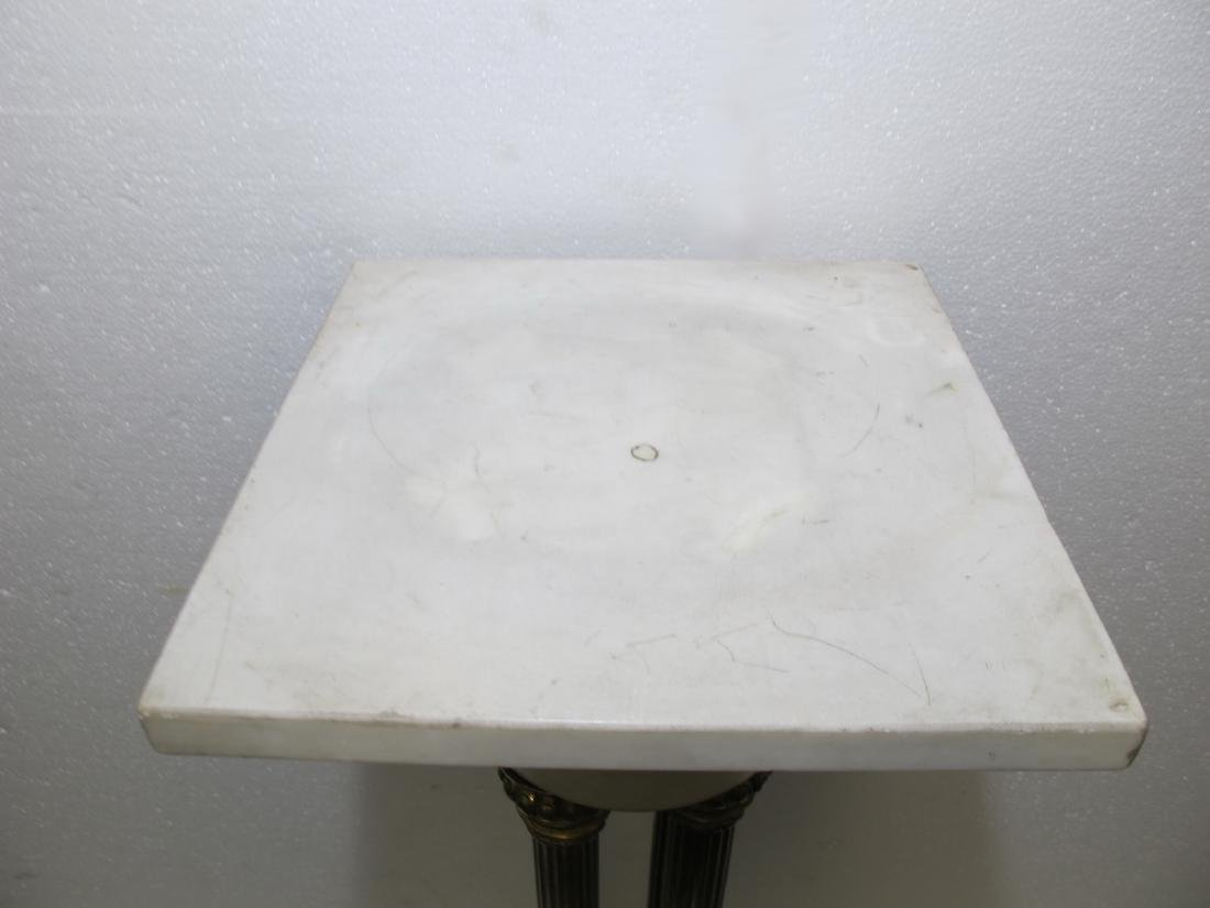 Antique French marble & bronze pedestal - 6