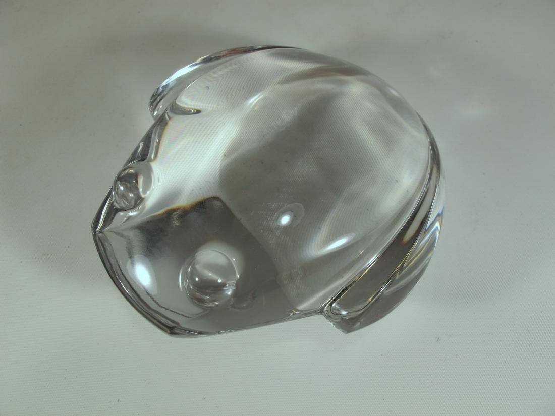 Val St Lambert de Sorss crystal frog paperweight - 2