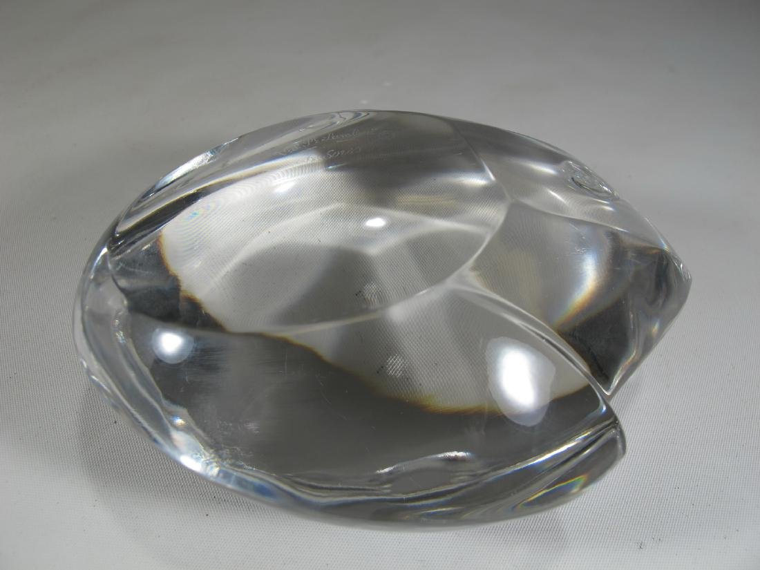 Val St Lambert de Sorss crystal frog paperweight - 5