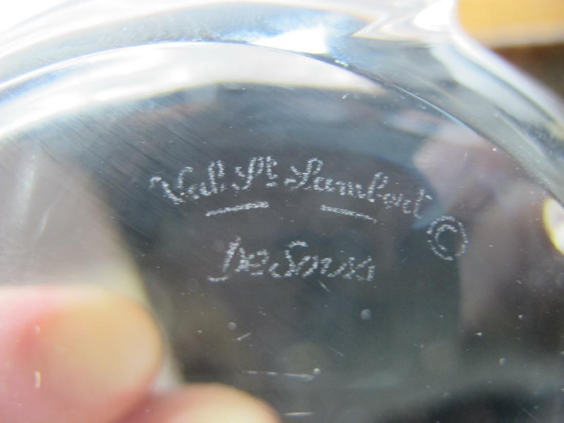 Val St Lambert de Sorss crystal frog paperweight - 6