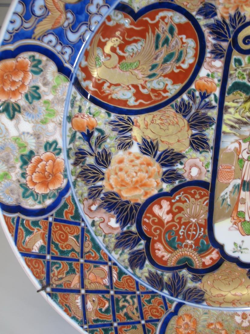 Huge Japanese Imari pair of porcelain plates - 5