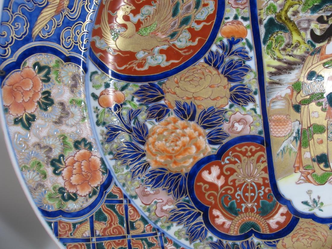 Huge Japanese Imari pair of porcelain plates - 7