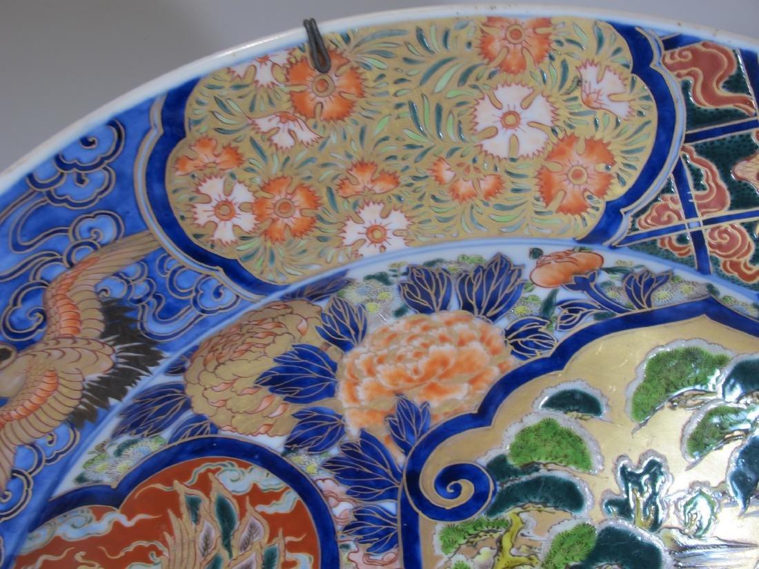 Huge Japanese Imari pair of porcelain plates - 8