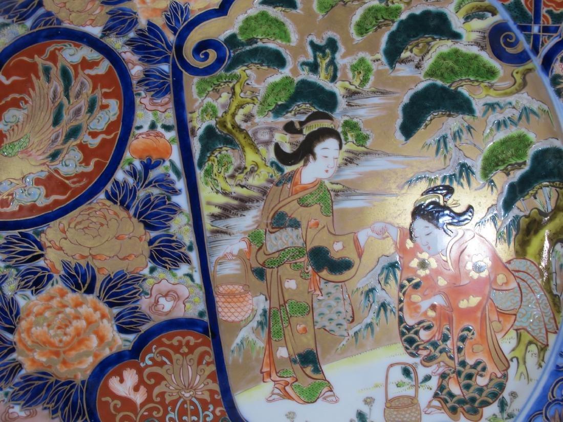 Huge Japanese Imari pair of porcelain plates - 9
