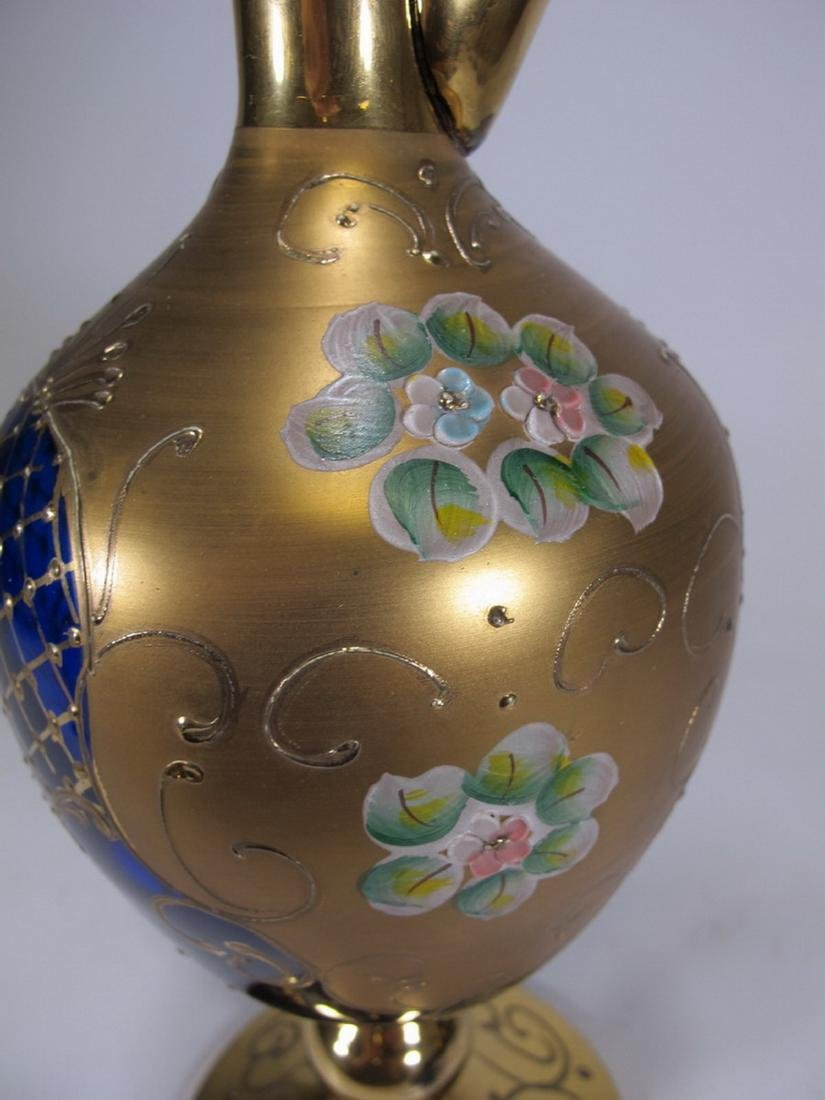 Antiques Bohemian pitcher & 6 glasses - 4
