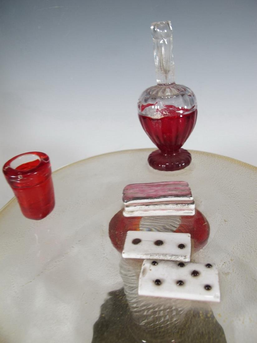 Antique rare Murano game table sculpture - 6