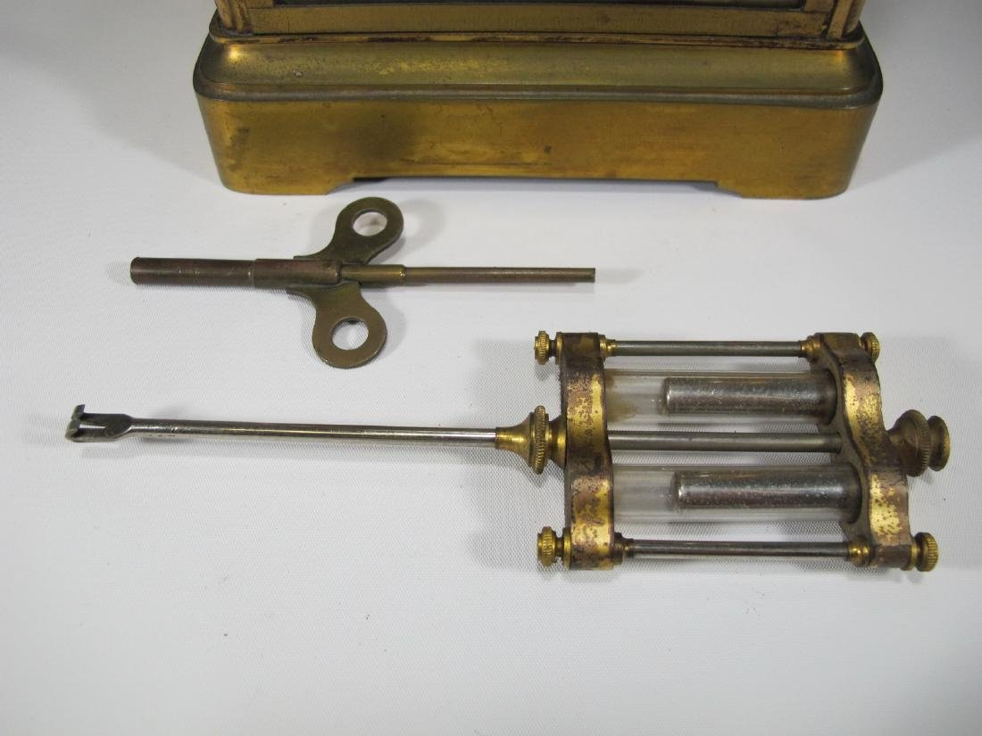 Antique Seth Thomas crystal regulator mantel clock - 3