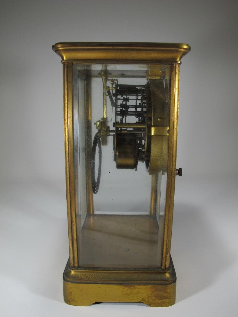 Antique Seth Thomas crystal regulator mantel clock - 6