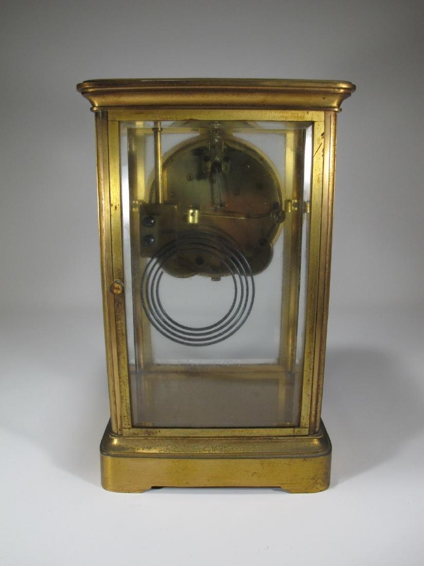 Antique Seth Thomas crystal regulator mantel clock - 7
