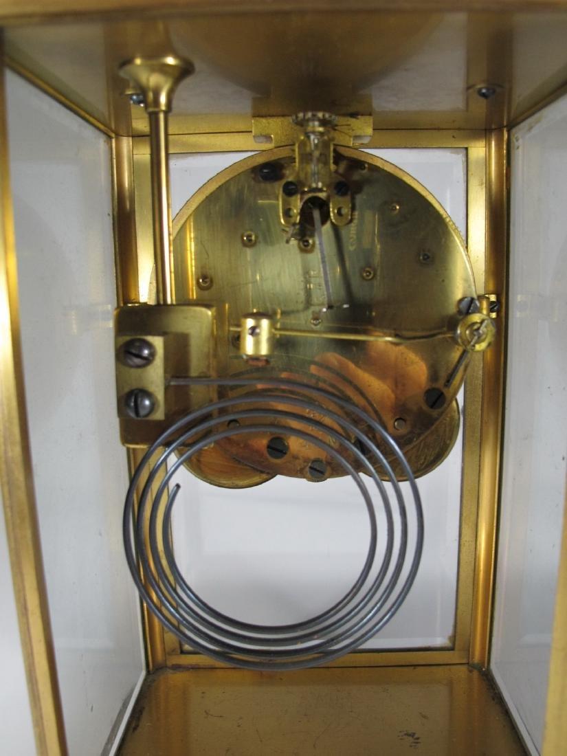 Antique Seth Thomas crystal regulator mantel clock - 8