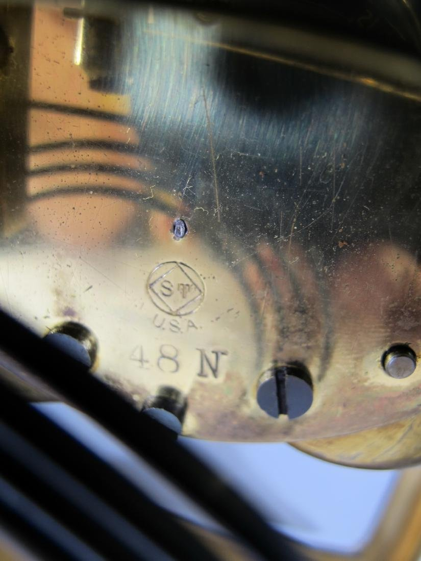 Antique Seth Thomas crystal regulator mantel clock - 9