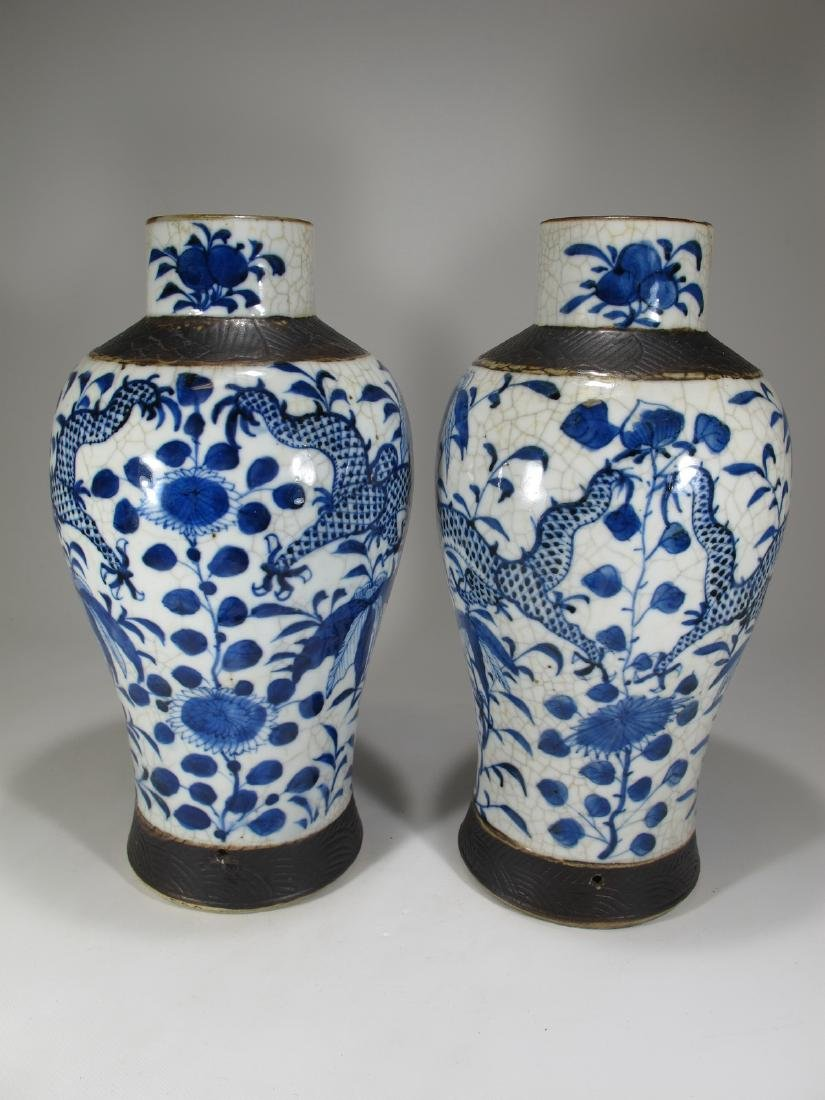 Pair of Chinese ceramic vases