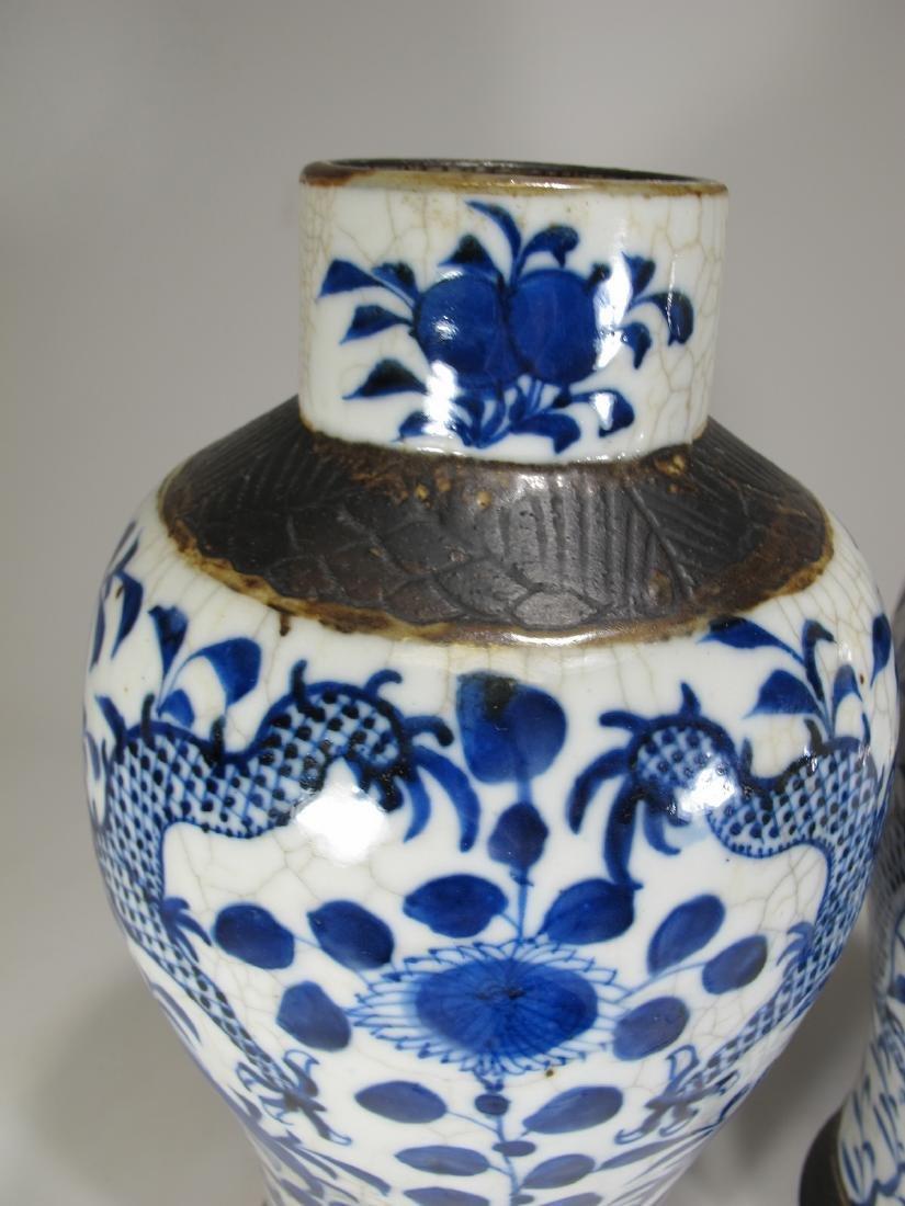 Pair of Chinese ceramic vases - 2