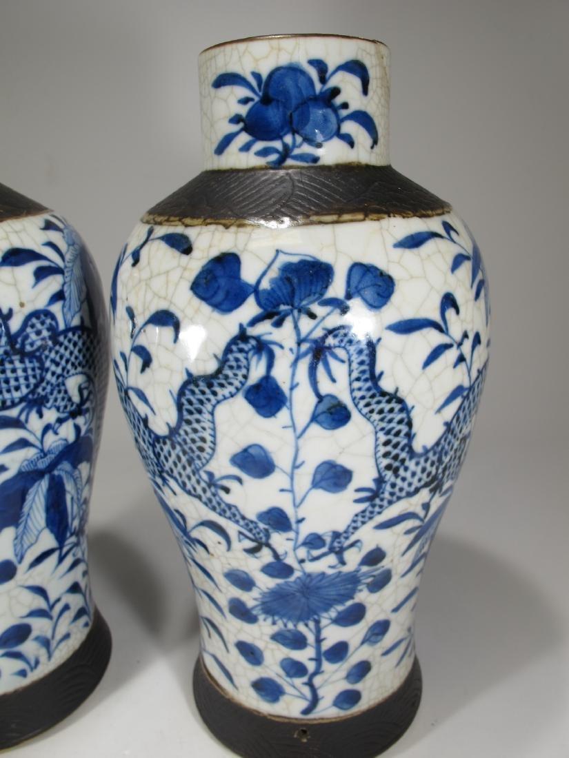 Pair of Chinese ceramic vases - 4
