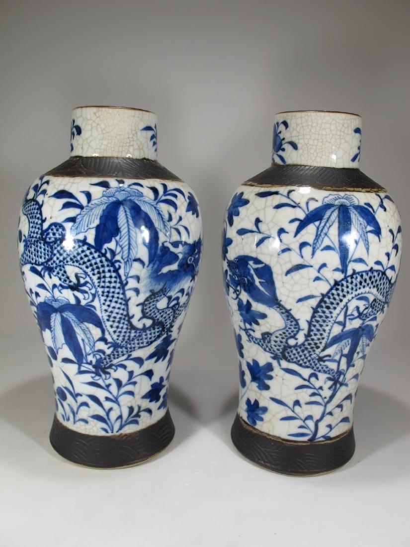 Pair of Chinese ceramic vases - 5