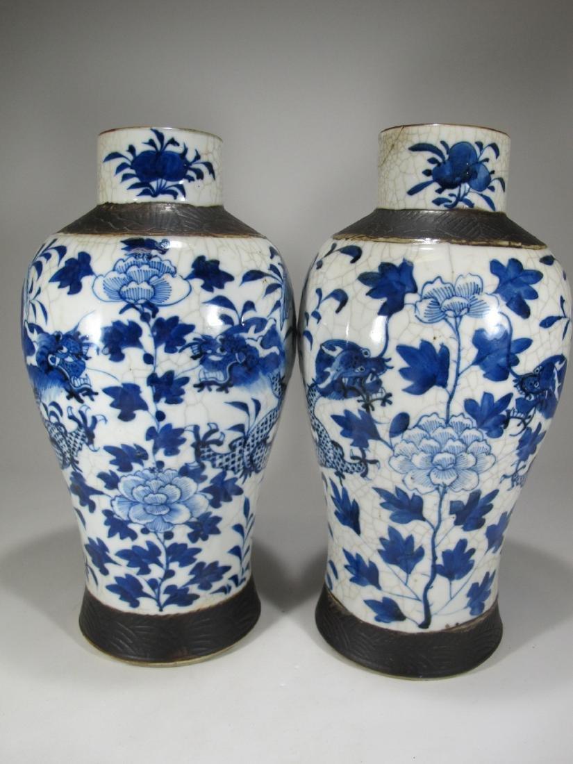 Pair of Chinese ceramic vases - 6